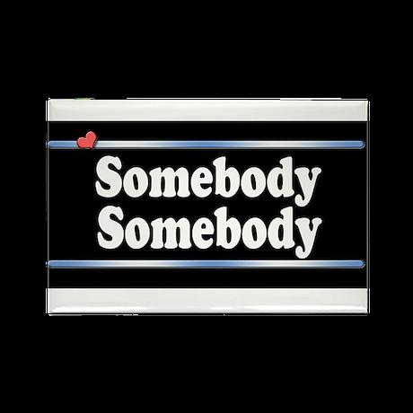 Custom Identity 2 line Rectangle Magnet (100 pack)