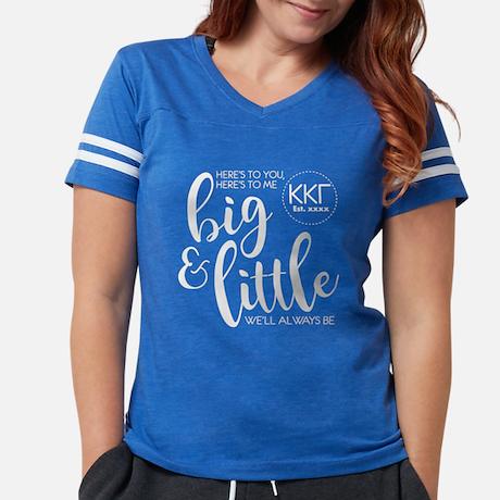 Kappa Kappa Gamma Big Little Womens Football T-shirt