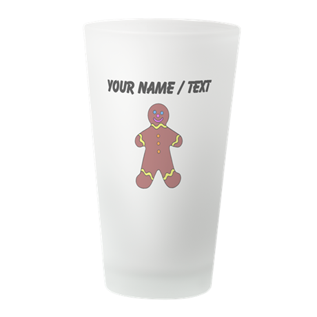 Ginger Bread Man (Custom) Frosted Drinking Glass