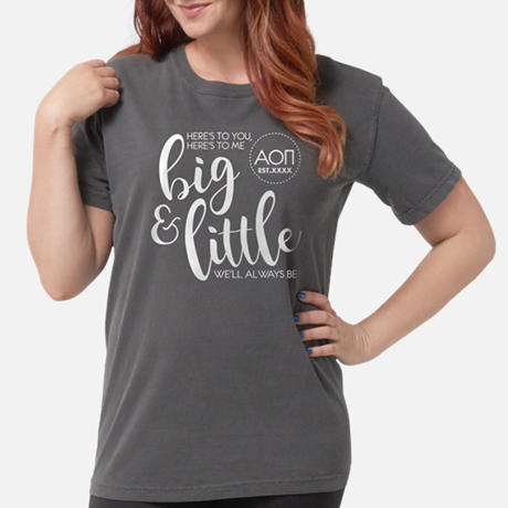 Alpha Omicron Pi Big Little Comfort Colors T-shirt