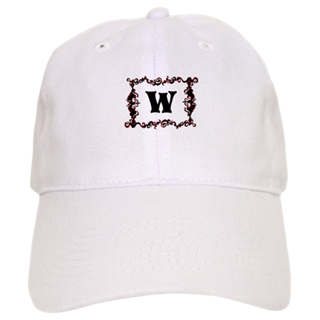 Monogram. Your Letter with Swirls Cap