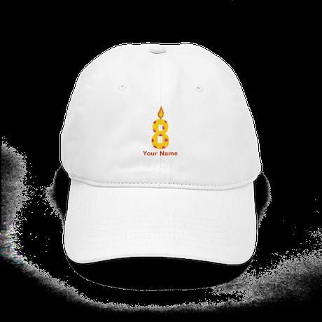 Custom 8th Birthday Candle Cap