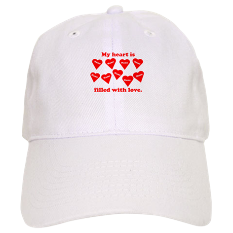 Personalized My Heart Filled Cap