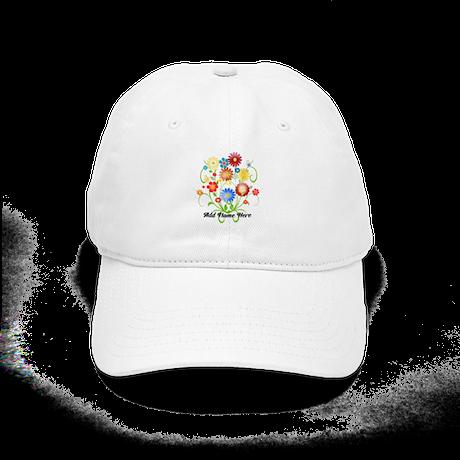 Personalized floral light Cap
