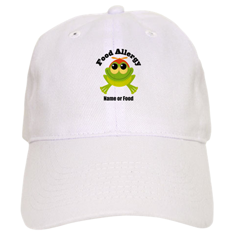 Personalized Food Allergy Frog Cap