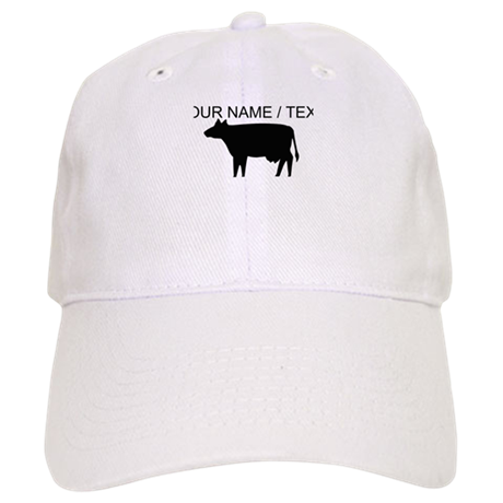 Custom Cow Silhouette Baseball Cap