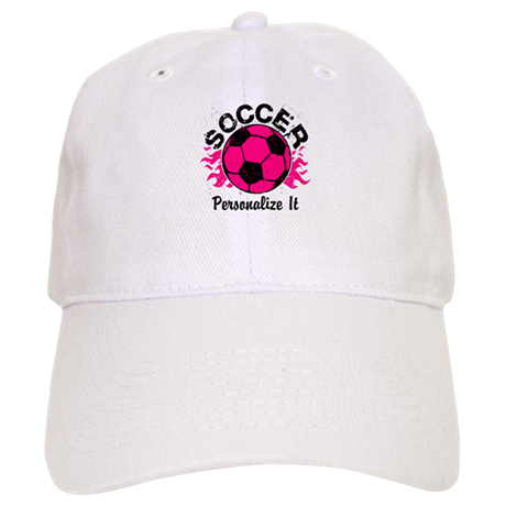 Personalized Soccer Flames Cap