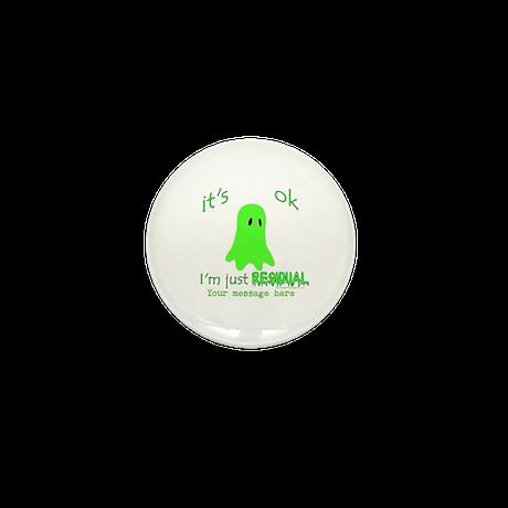 Customizable Just Residual Ghost Mini Button