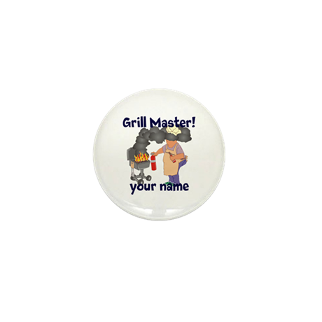 Personalized Grill Master Mini Button (10 pack)