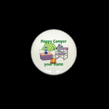 Custom Happy Camper Mouse Mini Button (10 pack)