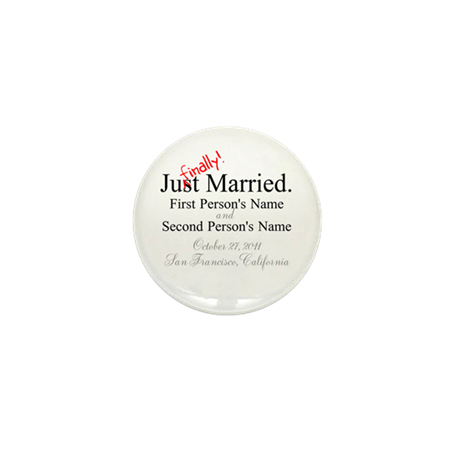 Finally Married Mini Button (10 pack)