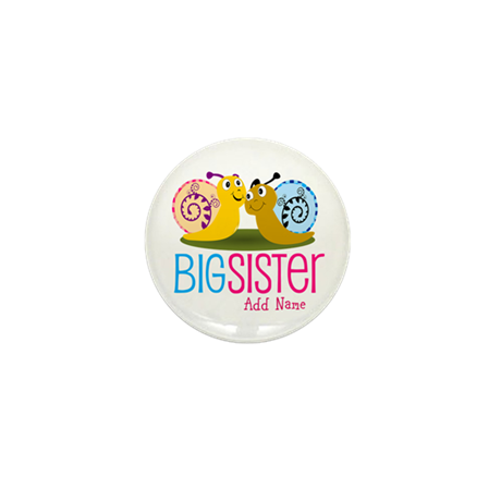 Snail Big Sister Mini Button (10 pack)