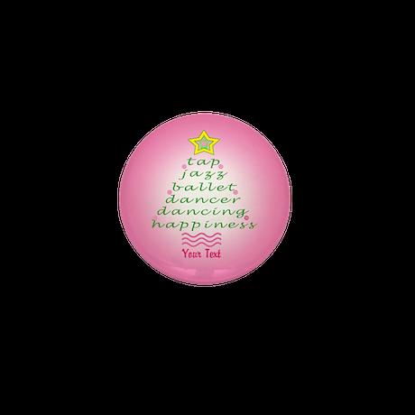Custom Pink Dancer's Christmas Tree Mini Button (1