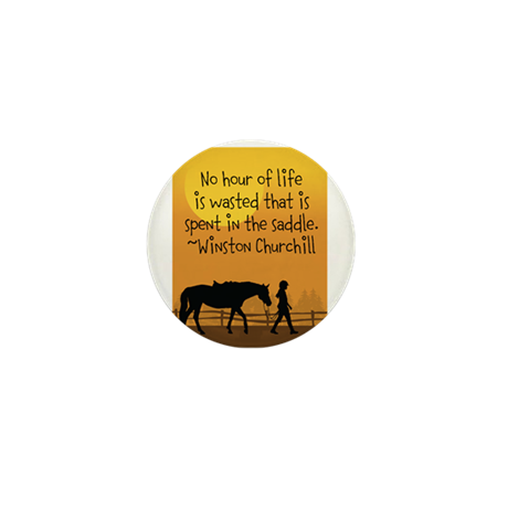 Horse and Child Mini Button (10 pack)