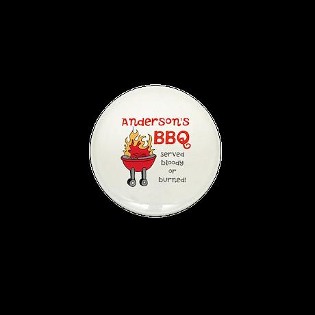 Personalized BBQ Mini Button (100 pack)