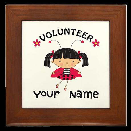 Personalized Volunteer Librarian Framed Tile