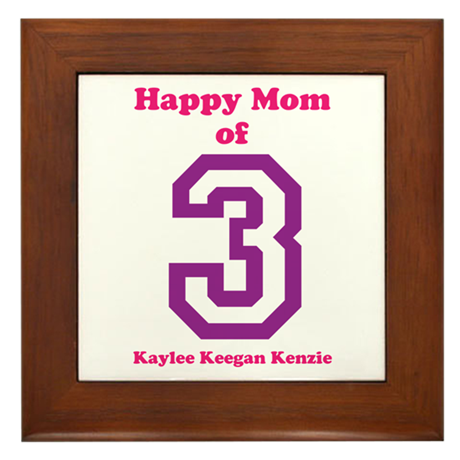 Personalized Mother Framed Tile