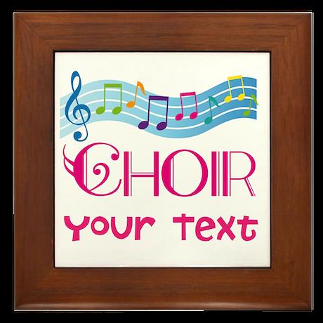 Cute Customized Choir Framed Tile