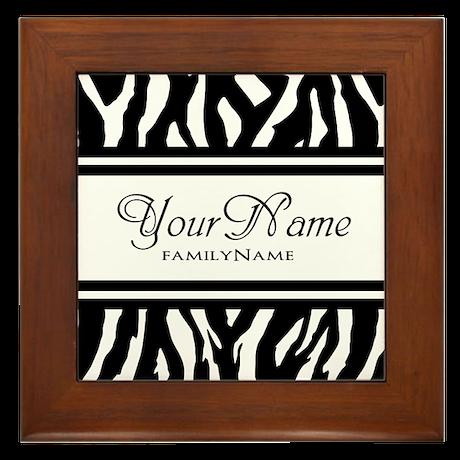 Custom Animal Print Framed Tile
