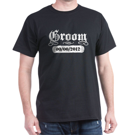 Groom (add wedding date) Dark T-Shirt