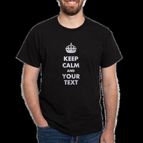 Personalized Keep Calm Dark T-Shirt