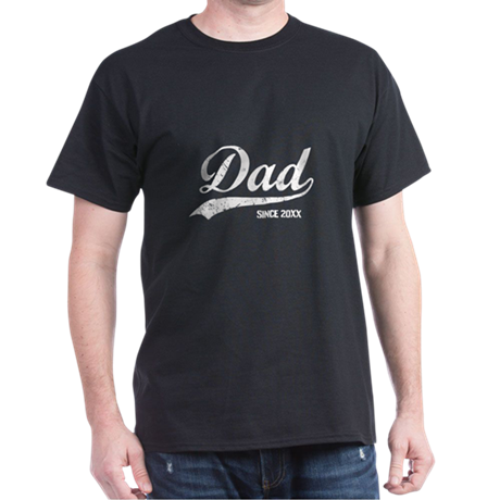 Personalize Dad Since Dark T-Shirt