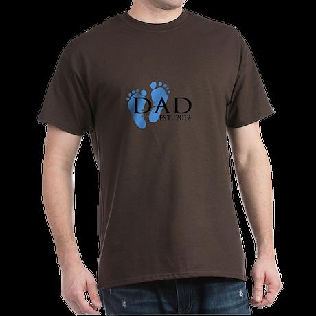 Dad Est 2012 Dark T-Shirt