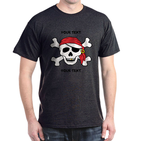 PERSONALIZE Funny Pirate Dark T-Shirt