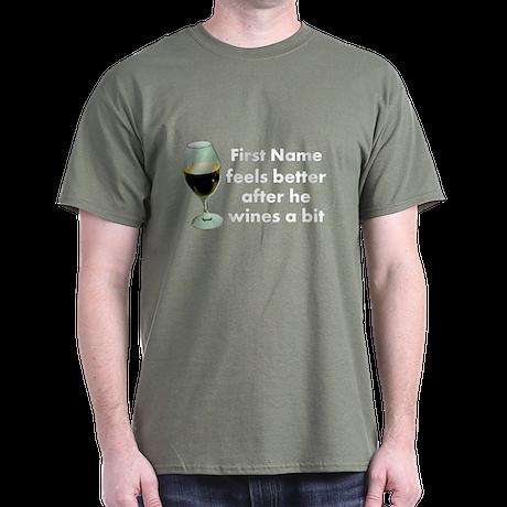 Personalized Wine Gift Dark T-Shirt