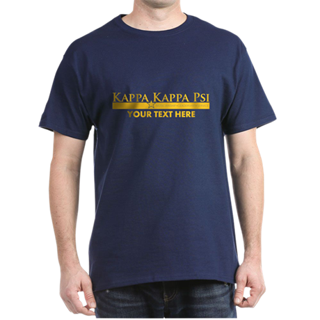 Kappa Kappa Psi Fraternity Name and M Dark T-Shirt