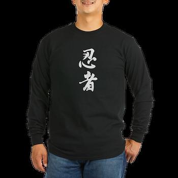 Ninja Kanji Long Sleeve T-Shirt