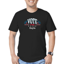 Cute Vote for kayla Men's Fitted T-Shirt (dark)
