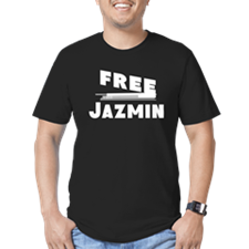 Unique Free jazmin Men's Fitted T-Shirt (dark)