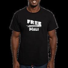 Cute Free mali Men's Fitted T-Shirt (dark)