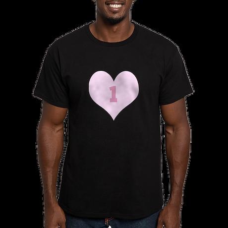 Pink Number 1 Heart T-Shirt