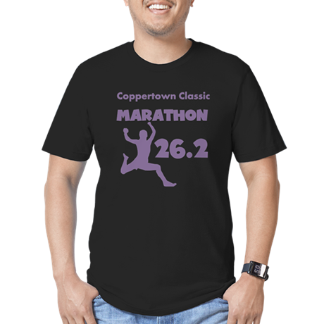 Purple Custom Marathon Men's Fitted T-Shirt (dark)