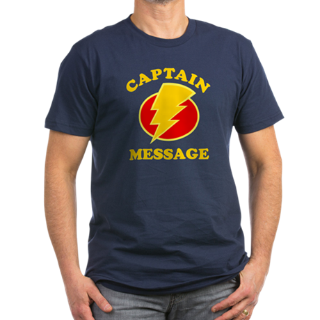 Personalized Super Hero Men's Fitted T-Shirt (dark