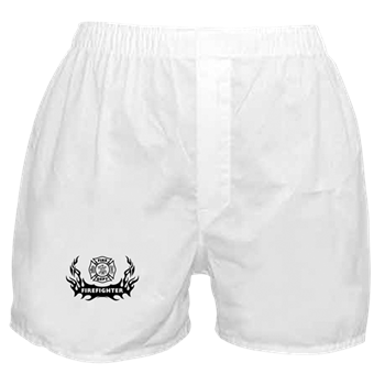 Fire Dept Tattoos Boxer Shorts