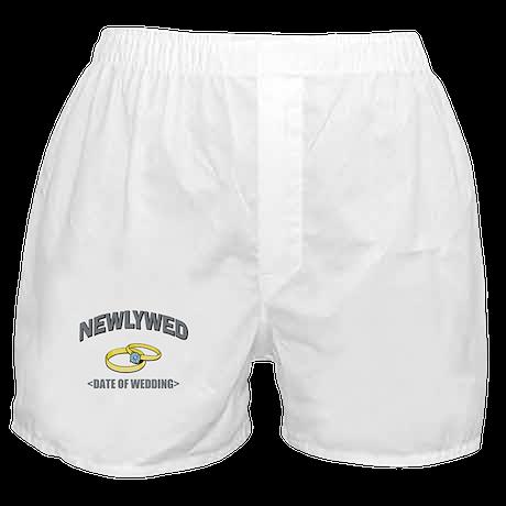 Newlywed (Add Date of Wedding) Boxer Shorts