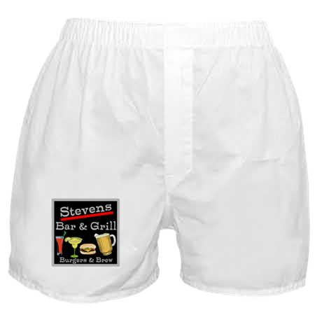 Personalized Bar and Grill Boxer Shorts