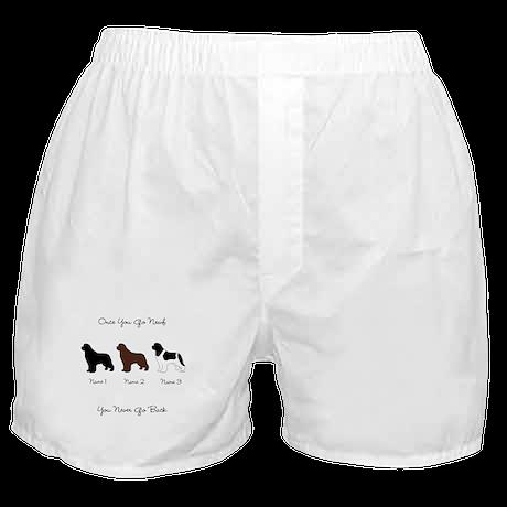 3 Newfs - Black, Brown, Landseer Boxer Shorts