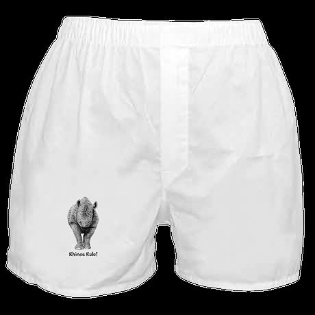 Rhinos Rule! Boxer Shorts
