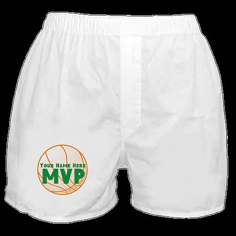 Personalized Basketball MVP. Boxer Shorts