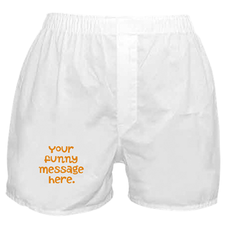 four line funny message Boxer Shorts