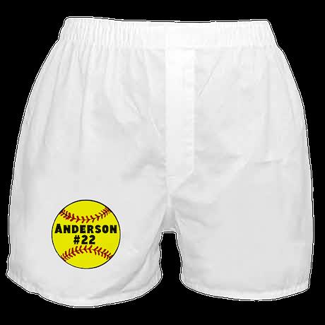 Personalized Softball Boxer Shorts