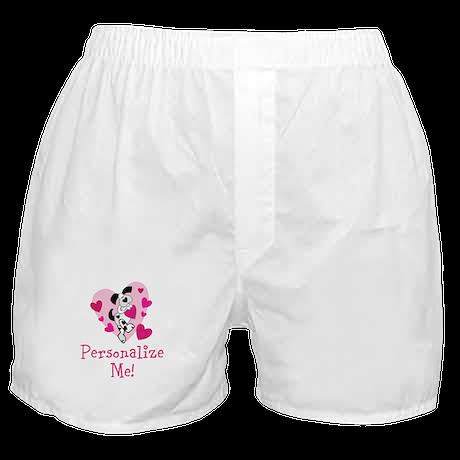 Valentine Puppy Boxer Shorts