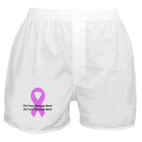 Personalize It, Pink Ribbon Boxer Shorts