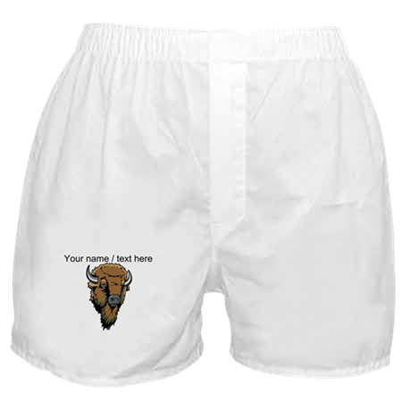Custom Bison Head Boxer Shorts
