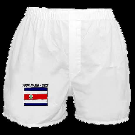Custom Costa Rica Flag Boxer Shorts