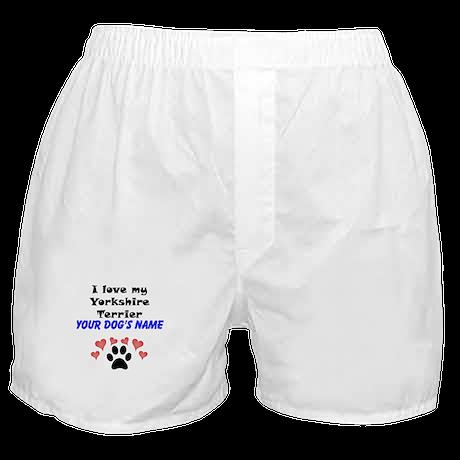 Custom I Love My Yorkshire Terrier Boxer Shorts
